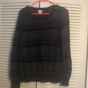 Black Casual Sweater
